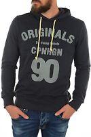 BNWT Men's JACK & JONES Originals Navy Large Logo Hoodie. Size S L XL