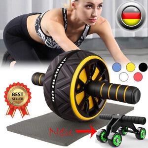 Bauchroller AB Wheel Bauchtainer Bauchmuskeltrainer Fitness Gerät mit Kniepad
