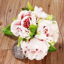 Bouquet Bridal 5 Heads Silk Flowers Peony Flower Home Wedding Decor 1 Bouquet