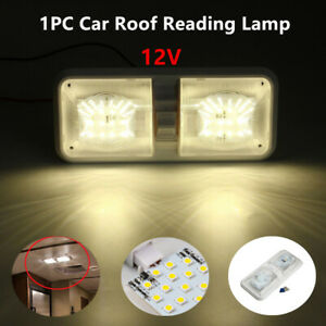 12V 48LED Ceiling Light Car Roof Reading Lamp for Camper RV Boat Indoor Lighting