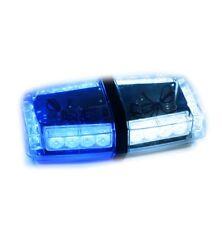 "Blue White Mini Light bar Emergency Warning  LED EMS Security strobe hazard 11"""