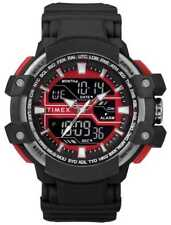 Timex Mens 50mm Black Case With Red Accent Black TW5M22700 Watch