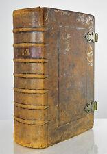 NIEDERLÄNDISCHE BIBEL BIJBEL HEILIGE SCHRIFT VON NICOLAAS GOETZEE 1748 #D418S