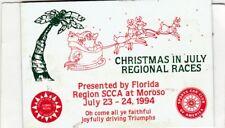 SCCA Dash Plaque 1994 Florida Region Christmas in July @ Moroso