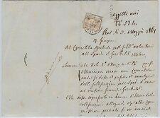 ITALIA REGNO:  storia postale - Lettera con testo riguardante GARIBALDI 1861