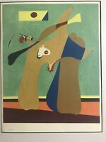 Original Limited Edition Lithograph By Joan Miro. Pencil Signed. Very Aged.