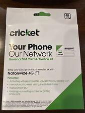 Cricket Wireless Complete Starter Pack Nano SIM Card + Micro & Standard Adapters
