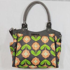 Petunia Pickle Bottom City Carryall Diaper Bag in Santiago Sunset Gray Orange