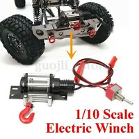 1/10 Scale Electric Wired Winch All Metal for RC SCX10 Racing Car Crawlers -