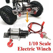 1/10 Scale Electric Wired Winch All Metal for RC SCX10 Racing Car Crawlers