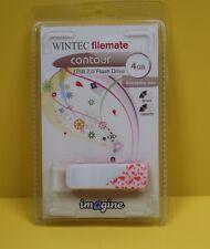 WINTEC FileMate Contour Imagine USB 2.0 Flash Drive 4GB Red BRAND NEW 4 GB