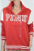 Pink By Victoria's Secret  Fleece High & Low Half Zip Sweatshirt Small NWT