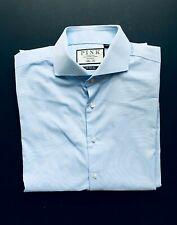 """Thomas Pink 16/"""" R White Arthur Twill Long Sleeves Slim Fit BC Shirt RRP £130"""