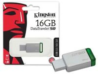 KINGSTON TECHNOLOGY PENDRIVE 16GB DT50/16GB  3.1 - USB 3.0