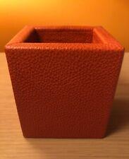 Garrett Leather Pencil Holder Orange Leather Handcrafted New
