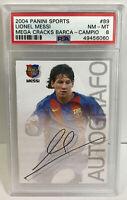 2004 Panini Sports Mega Cracks Lionel Messi ROOKIE RC #89 PSA 8 NM-MT Campio