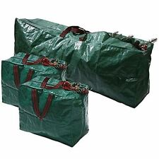 3pcs Extra Large Christmas Tree Decorations Storage Zip Bags with Handles Set