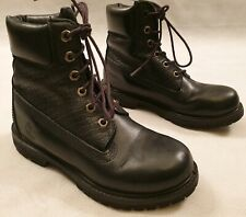 Timberland Black Leather Boots 6 Eyelets UK Size 2.5 EU Size 35