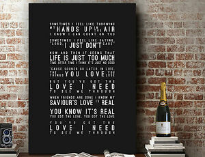 Florence & The Machines You Got The Love | Song Lyric PRINT | CANVAS ART GIFT