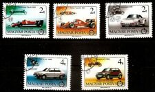 automobile Hungary  Formula 1 cars, nice set used Mi: 3828-3832