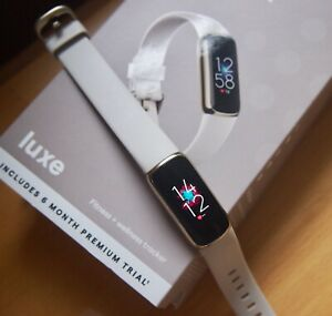 Fitbit Luxe Soft Gold Lunar White Strap Three Months Old