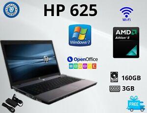 CHEAP HP 625 AMD ATHLON ll 15.6IN RAM 4GB HDD 160GB Win7 WEBCAM HDMI LAPTOP