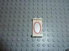 LEGO Panel White 1 x 2 x 3 with Mirror Sticker Réf 2362acx1 Set 6410