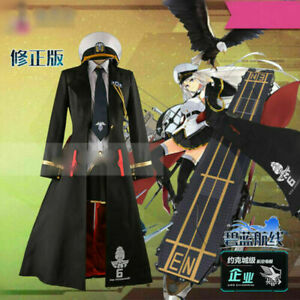 New! Games Azur Lane Enterprise Uniforms Skirt Full Set Have a Hat Custom Made