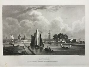 1830 Antique Print; Amsterdam, the Netherlands -  Thomas Kelly