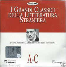 CD ROM I GRANDI CLASSICI DELLA LETTERATURA STRANIERA I CAPOLAVORI A C ENCICLOPED