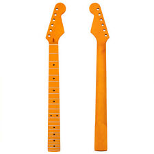 Maple Yellow Electric Guitar Neck 22 Fret Fingerboard For Parts Replacement