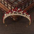 Elegant Rose Crystal Bridal Tiara Wedding Princess Hair Crown Headbands
