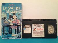 Le noel de mickey  VHS tape & sleeve rental FRENCH