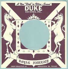 DUKE REPRODUCTION RECORD COMPANY SLEEVES - (pack of 10)