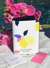 🌸 Kate Spade Cameron Lemon Zest Leather Passport Card Holder Wallet NEW $88
