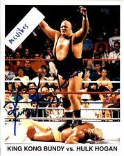 King Kong Bundy Autographed Signed 8x10 Color Photo WWF Wrestler DECEASED