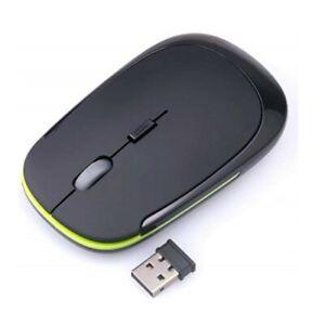 Ultra-Slim Mini USB 2.4G Wireless Mouse Optical for PC MAC Laptop Desktop Black