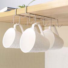New Under Shelf Coffee Cup Mug Holder Hanger Storage Rack Cabinet Hook  Kitchen
