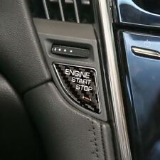 For Cadillac ATS ATS-L Carbon Fiber Engine Start Button Ignition Sticker Cover