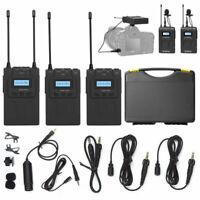 AU Boya by-WM8 PRO K2 UHF 2 Channel Wireless Lavalier Microphone System for DSLR