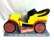 Early Times bar sign Kentucky bourbon whiskey 1904 Pierce arrow car chalkware J8