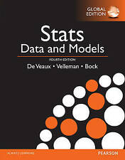 Stats: Data and Models by Paul F. Velleman, David E. Bock, R. De Veaux (Paperbac
