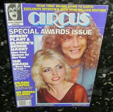 Blondie Robert Plant Man/Woman of the Year 1980 Circus Magazine Kiss Centerfold