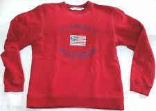 Tommy Hilfiger Jeans USA flag sweatshirt men sz M red/navy unisex vtg 90s