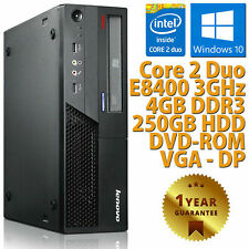 PC COMPUTER DESKTOP RICONDIZIONATO LENOVO DUAL CORE RAM 4GB HDD 250GB WINDOWS 10