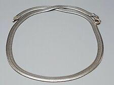 Flaches Schlangen Collier 925 Silber 45 cm lang/7 mm breit Karabiner / A 890