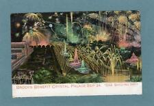Crystal Palace Brock's Benefit Fireworkks Advertising old pc Paid postmark