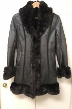 Patched Leather Shearling/Rabbit Fur Coat