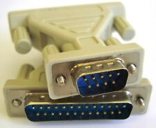 Serial Cable / Port Adapter / RS232 Gender Changer, DB9 Male to DB25 Male