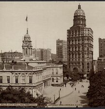 ca. 1898 City Hall New York City Hood's Photos of the World Cure Adv. Trade Card